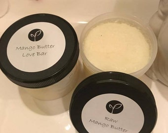 Raw Mango and Raw Cocoa Butter for dry and sensitive skin