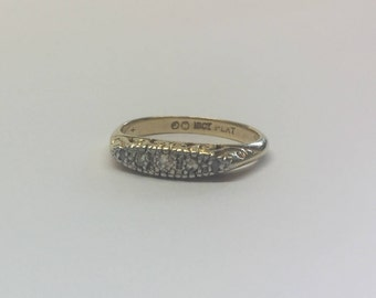 18ct Gold And Platinum Antique Style Diamond Ring