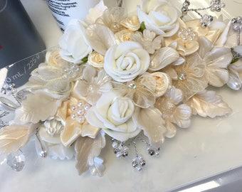 Handmade bridal couture headdress
