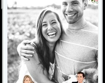 DIY Customized Snapchat Wedding Filter   Personalized Cartoon   Custom Wedding Cartoon Geofilter