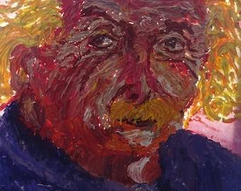 Albert Einstein Oil Painting