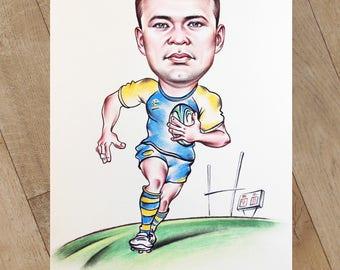 Pastel Caricatures for Sportsmen.
