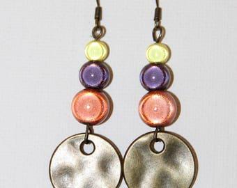 Bronze ethnic earrings