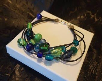 four strand leather bracelet