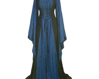Whitby gothic dress, medieval dress, renaissance gown, halloween wedding dress, plus size