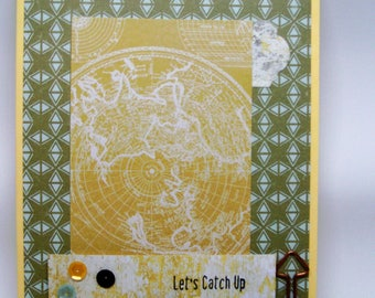 All occassion handcrafted greeting card with envelope