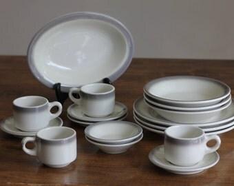 Set of 16 Buffalo China Dishes