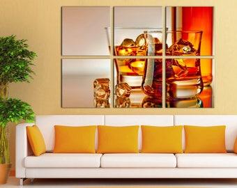 Large Canvas Wall Art Canvas Print Whisky decor Wall Art Home Room Decor Multi Panel canvas Home decor Canvas Home interior Large Canvas
