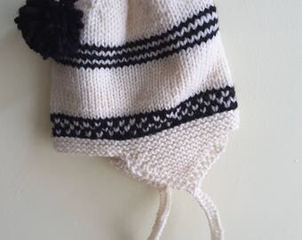 Winter hats with ear flaps.