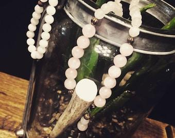 Deer Antler Necklace, Beaded Necklace, Antler Jewelry, Antler Necklace, Boho Necklace, Horn Necklace, Deer Antler Pendant