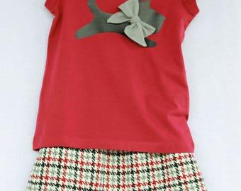 Scottie Dog Shirt & Skirt Set - size 6