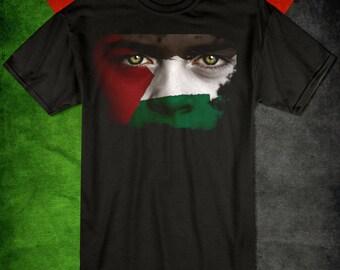 Save Palestine Eyes Flag T-shirt