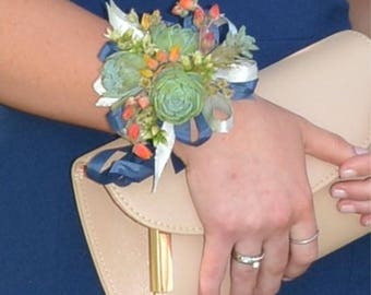 Made-to-order wedding / formal / prom succulent wrist corsage