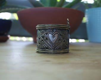 Vintage Afghan Kuchi Tribal Bracelet with Pin Clasp