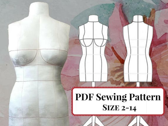 PDF Sewing Pattern DIY Dress Form Mannequin. Plus Complete