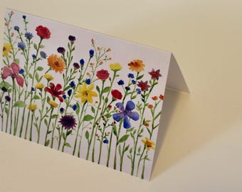Notecards, Flower Print, Blank Notecards, Art Print, Watercolor Flowers