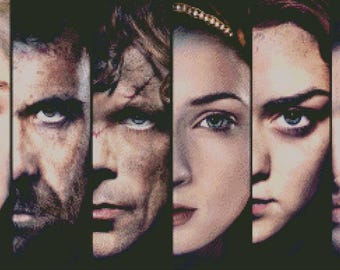 Game of Thrones Main Characters, Cross Stitch PDF pattern