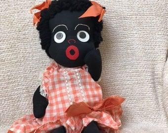 Ethnic Handmade Rag Doll, 1950's