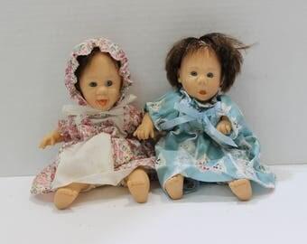 Vintage Gi-Go Palm Pals Expression Dolls - set of 2