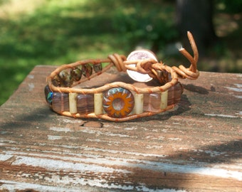 Little Orange Slice Wrap Bracelet