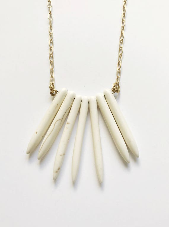 Marbled Drop Necklace
