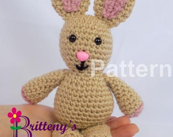 Bunny Rabbit Crochet Pattern Stuffed Animal Crochet Pattern Bunny Rabbit Stuffed Animal Crochet Pattern Amigurumi Crochet Pattern
