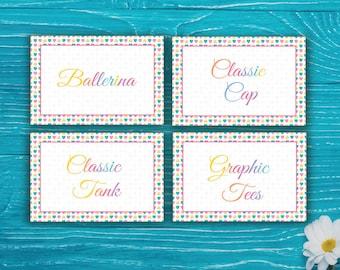 Dot Dot Smile Style Card, DotDotSmile Clothing Style Cards, Polka Heart, DDS Style Card, DDS Marketing, Buy 10 Get 1 Free, Printable Digital