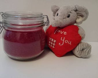 Fruity Cherry  Scented Crystal Soy Candle