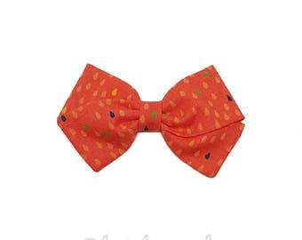 ORANGE hair girl or baby bow headband pattern drops