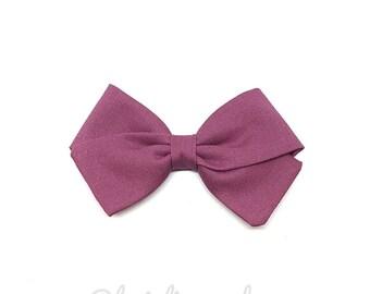 Kids hair clip or purple bow baby headband