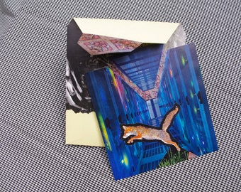 Collage Letter Card: 4D Foxing