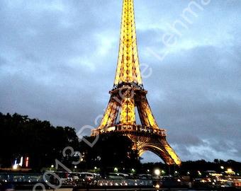Eiffel Tower at Dusk - Digital Download