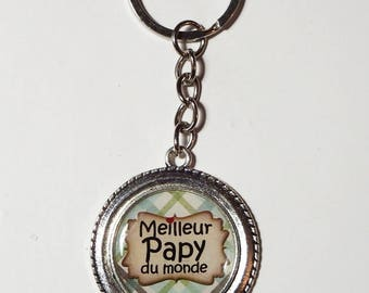 """Best Grandpa in the world"" GRANDPA Keychain/gift/mother of the Grandpa"
