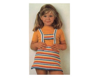 Crochet Pattern - Girls Striped Jumper, add stripes as she grows!