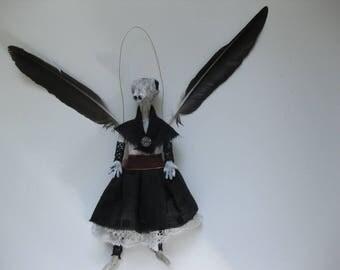 Faith, Fine art doll OOAK costumed air-dry clay collectible