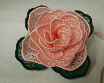 Pink Rose Lace Rose