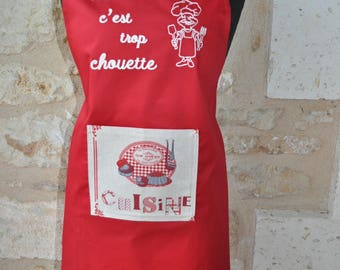 WOMAN cooking apron is so cool