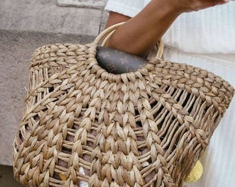 Pre-order // straw handle bag // straw bag // straw basket // Rattan bag // boho bag // beach bag // Bali bag // summer bag // basket bag