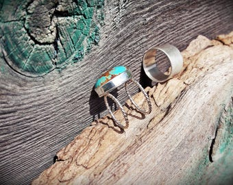 Nevada Turquoise & Sterling Silver Ring Set