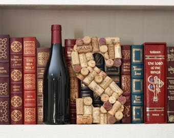 Wine Cork Letter ~ Wine Cork Initial  ~ Home Bar Decor ~ Repurposed Corks ~ Wine Cork Art ~ Wine Lover Gift ~ Housewarming ~ Wedding Gif