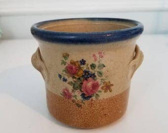"Monroe Salt Works 4"" Stoneware Crock"