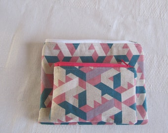 Duo kits pockets zippered and lined