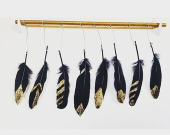 Glitter Feather Hanging