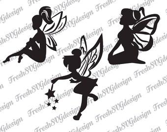 Fairy SVG, Fairy Silhouette svg, svg fairies, fairy cutting files, fairy dxf, fairy clipart, fairy svg files, svg files for cricut