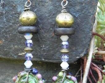 Lampwork Glass beads earrings