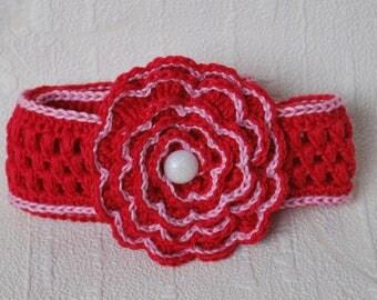 Girls crochet headband Baby headband Summer headband  Newborn Crochet prop Baby accessories Crochet flower headband