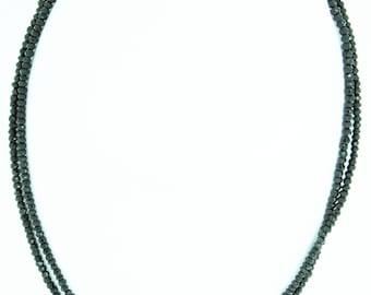 """16"""" Black Spinel Necklace"""