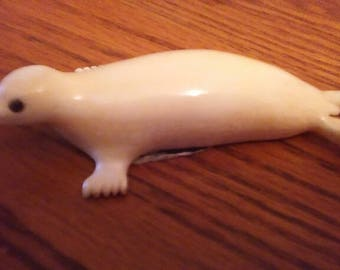Alaska Native Yup'ik Carved Seal