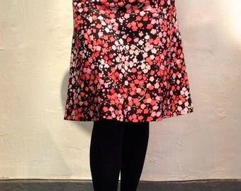 Black Japanese printed cotton skirt