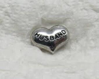 Husband Heart Floating Charm